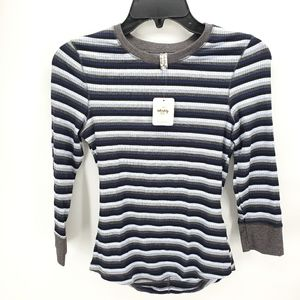 Free People Good on You 3/4 Sleeved Ribbed Top
